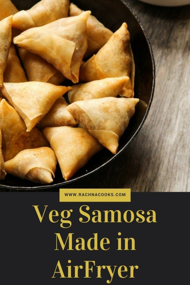 Delicious Recipe of Veg #Samosa made in #Airfryer. Try this tasty and healthy snack.