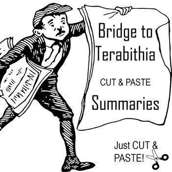 Bridge to Terabithia- Cut and Paste- Chronological Order