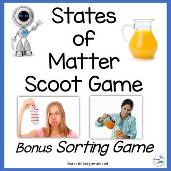 States of Matter and learning about them just got even better! Your students will love this Scoot Game and Sorting Game. Just print and play! Real photographs are used to help students. Please see the preview for