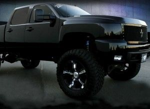 jacked up chevy trucks 2014