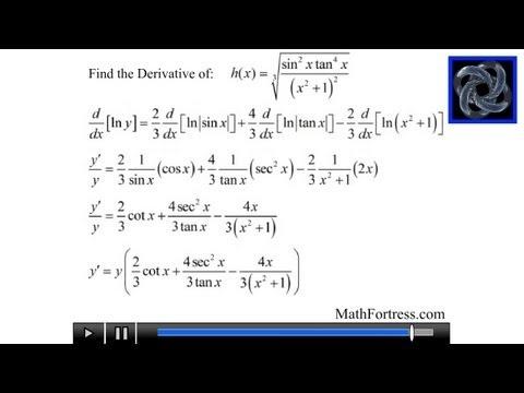 Calculus I: Logarithmic Differentiation (Level 1)