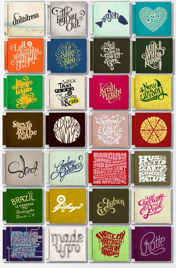 CD Typography — Mats Ottdal, via Behance