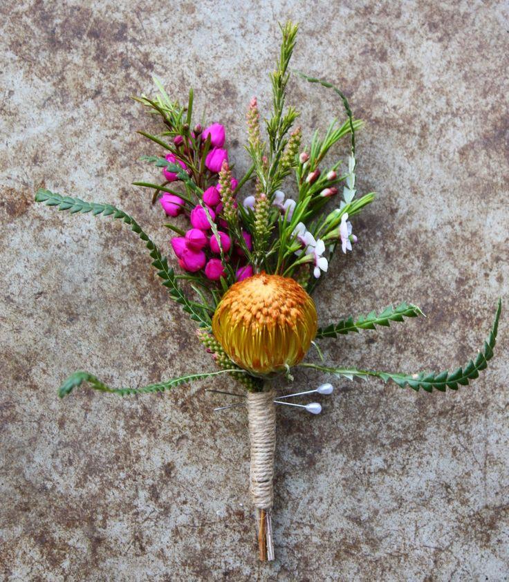 Native Spring Wedding Flowers - October wedding with Boronia and Dryandra