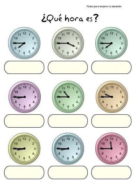 191 Qu 233 Hora Es Ejercicio 1 Spanish Time Aprender La