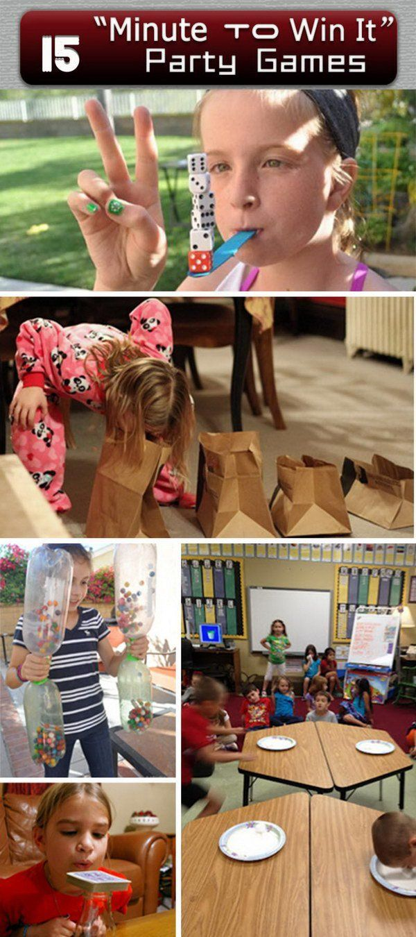 'Minute to Win It' Party Games!                                                                                                                                                      More