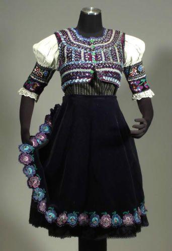 Slovak Folk Costume Embroidered Blouse Brocade Pleated Skirt Vest Pliesovce Kroj | eBay
