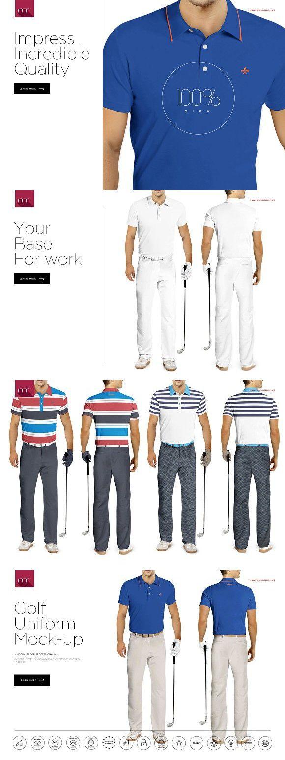Golf Uniform Mock Up Golf Uniform Mocking Mockup