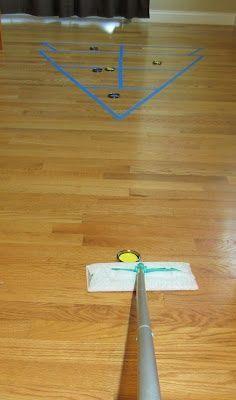 diy shuffleboard for occupation based activity