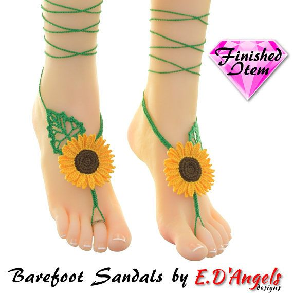 34 Best Barefoot Sandals Images On Pinterest Crochet Barefoot