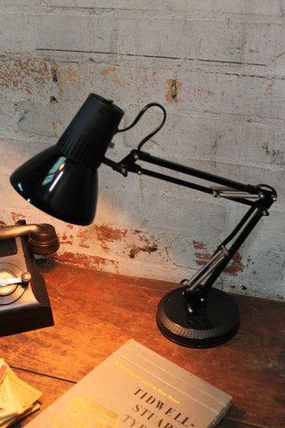 Bedroom 3 - Superlux - task lighting - black Desk Lamps from Fat Shack Vintage  as bedside table lamps (x2)