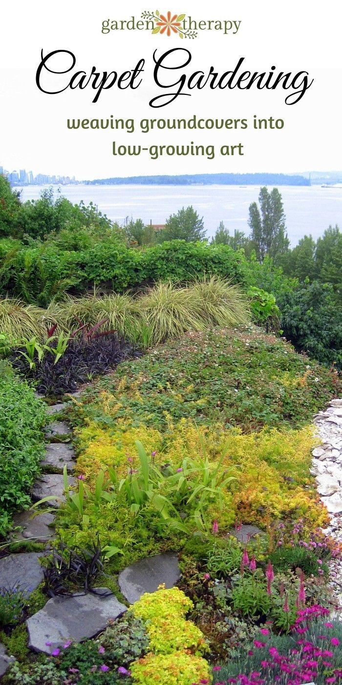 Creative environments landscape co edible gardens - Carpet Gardening Weaving Groundcovers Into Low Growing Art