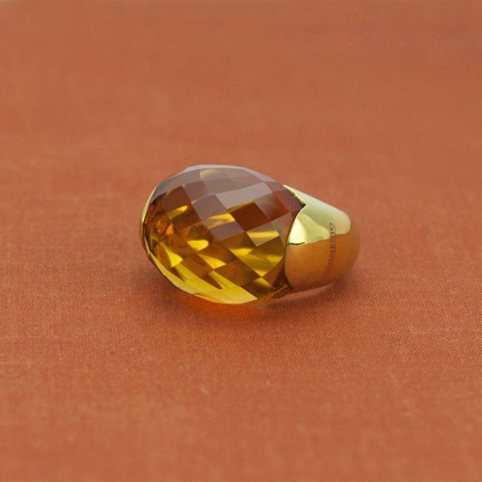 Chimento 18K Yellow Gold Accordi Collection Maderia Citrine Ring - $988.00