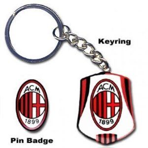 AC Milan Crest Keyring  Pin Badge Set by AC Milan. $13.99. This official AC Milan keyring and badge set is ideal for all fans of AC Milan. Code: BADGE62