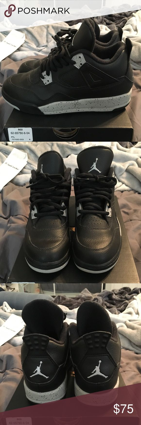 Jordan Retro 4 Oreo Adult worn size 3Y Air Jordan Shoes Sneakers