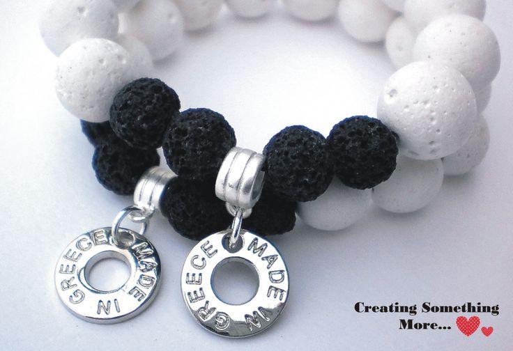Bracelet with white lava <3