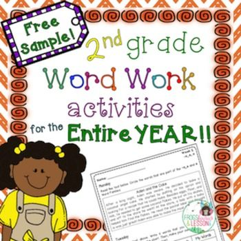 I'd love you to try two weeks of 2nd Grade Word Work on me.If you are interested in purchasing the full 30 weeks click hereThis is a description of the product. Remember you are getting a free 2 week sample only.This product offers 30 weeks of Word Work, from Monday through Thursday each week.