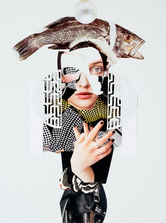 Los sorprendentes collages pintados de Jennifer Nehrbass