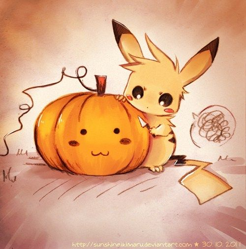 sunshineikimaru.deviantART | Pikachu, I Carve You! | memebase.cheezburger.com | Pokémon | October | pumpkin