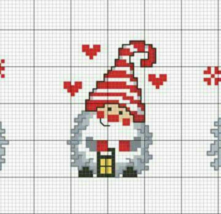 Gnome cross stitch.