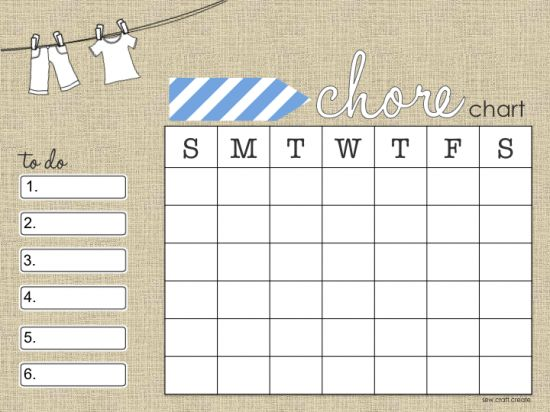 Best Chore Charts Images On   For Kids Calendar And
