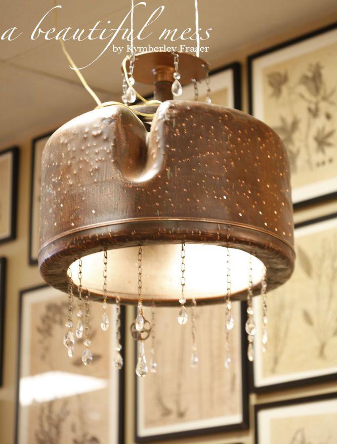 Copper Washtub Chandelier 313 best lamps lights