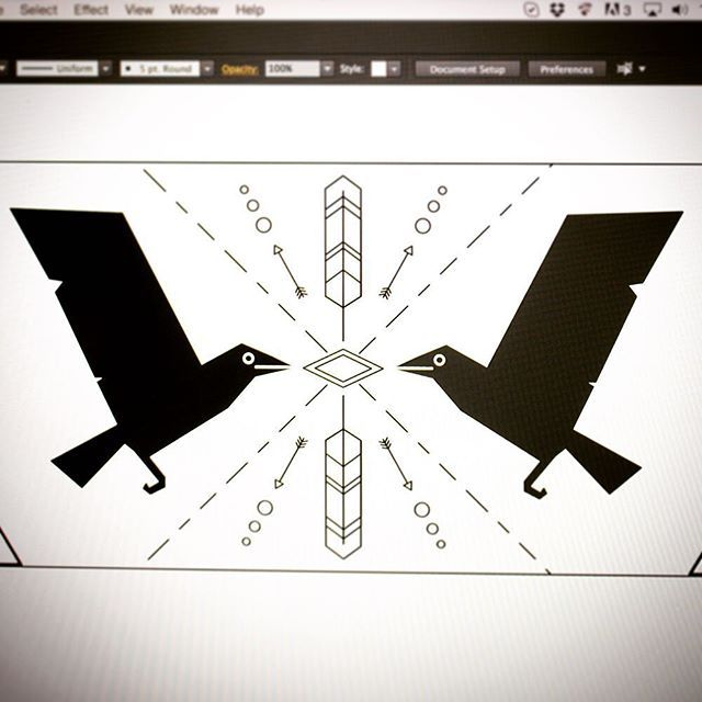 Trying out some designs with Hugin and Munin for a leather bracelet.