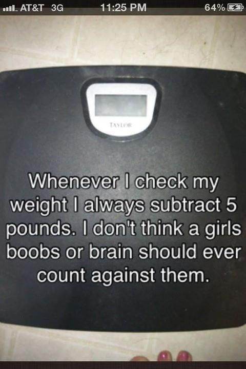 The funny thing is I've often thought this as I am weighing