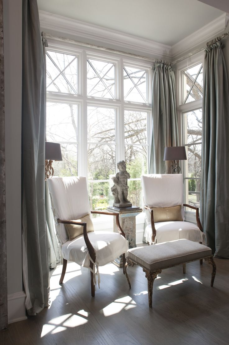 81 best images about for sue on pinterest window - Curtains for bay windows in living room ...