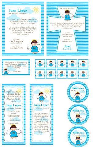 kit imprimible bautizo niño gratis - Buscar con Google