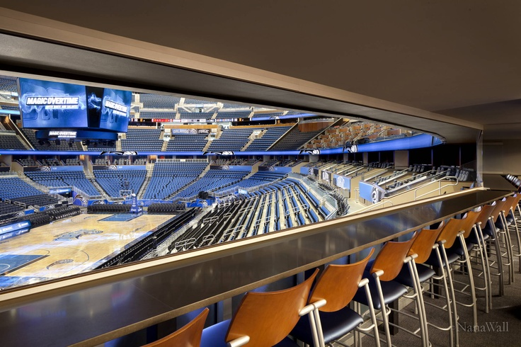 Perfect seats to enjoy the game from at the Magics Stadium | NanaWall