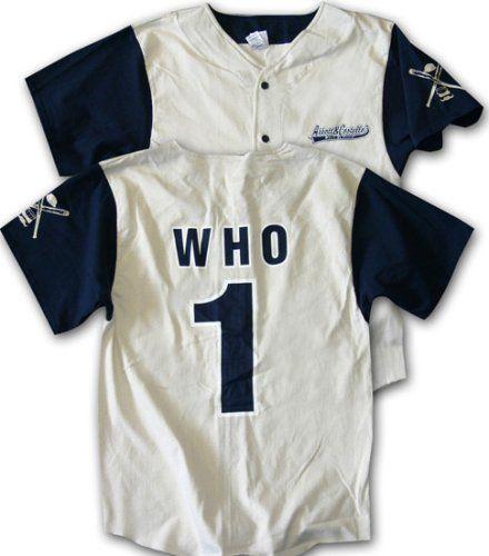 Abbott and Costello WHO Classic Comedy Baseball Jersey XL