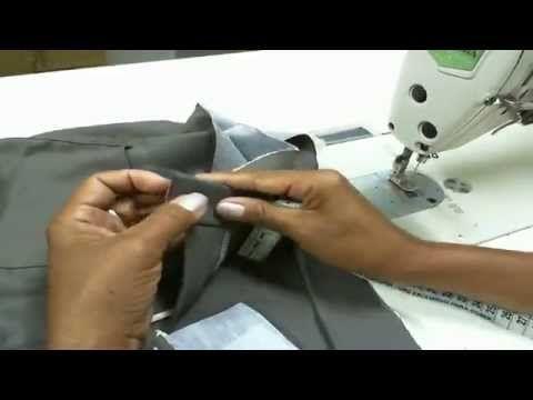 Como colocar cós reto em saias e calças parte 2