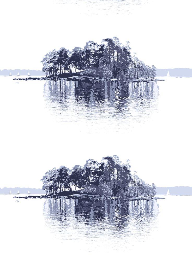 Merellä, blue, design by Riina Kuikka