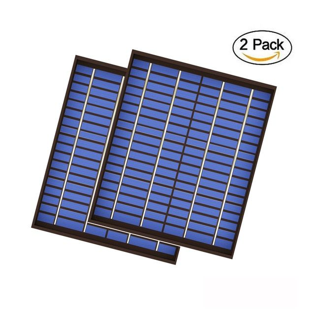 2pcs X 20watt Solar Panel 18v 20w 1 1a Mini Pet Polycrystalline Pv Module Cell Charge For 12v Battery Charger 2 Solar Panel Cost Best Solar Panels Solar Panels