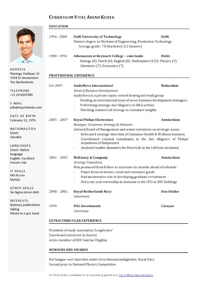 Awesome European Cv Template Download Idea Mit Bildern