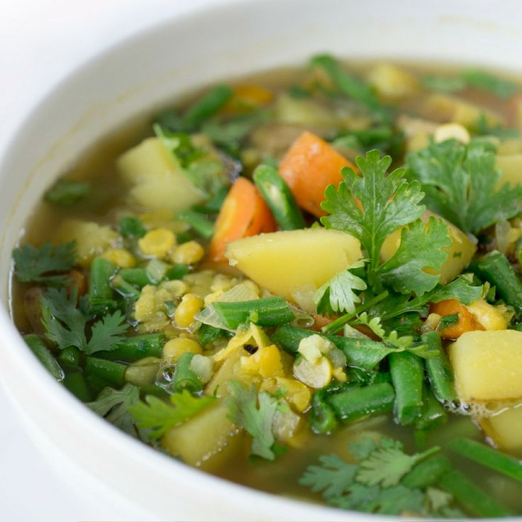 Potato, Red Lentil & Green Bean Curry. Click Visit for the recipe on our blog.