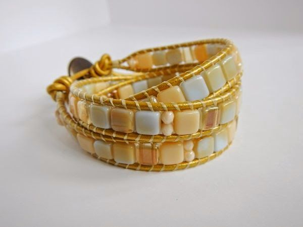 Wrap bracelet with Tile beads