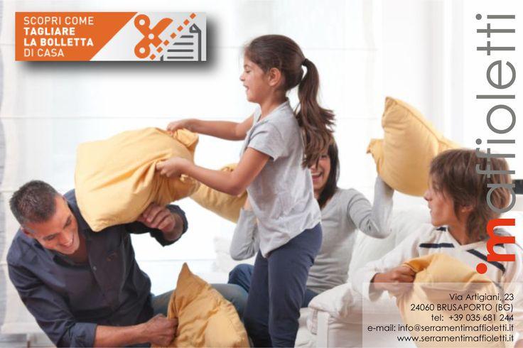 #SerramentiMaffioletti per combattere il freddo... il resto è divertimento con la battaglia dei cuscini. www.serramentimaffioletti.it