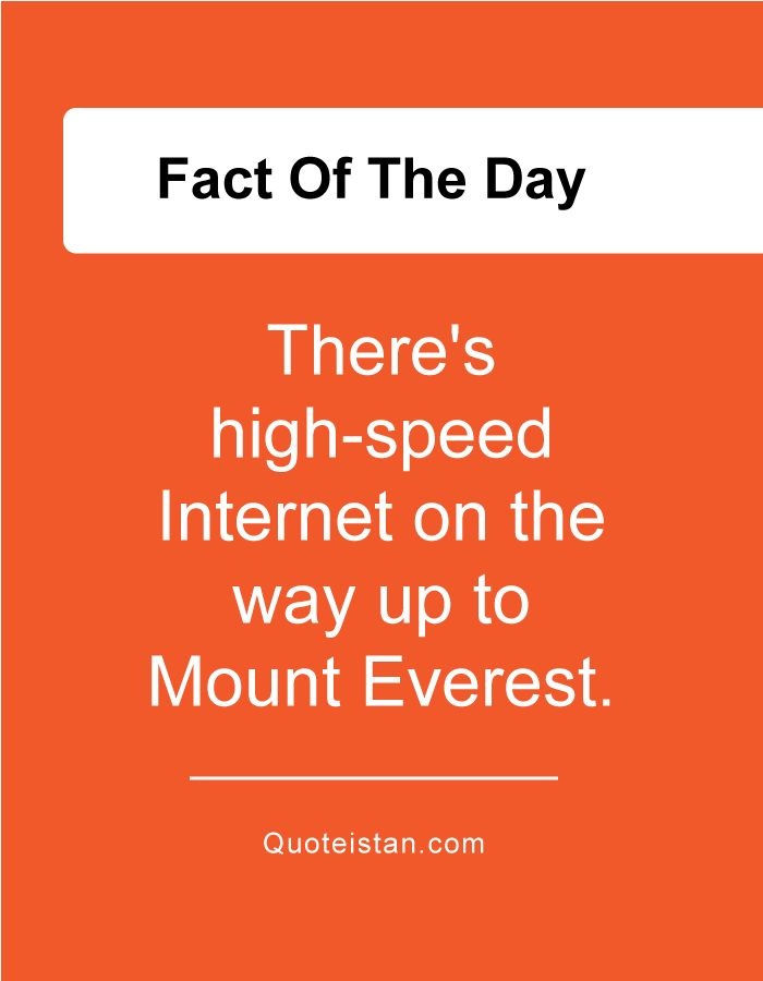 There's high-speed Internet on the way up to Mount Everest.