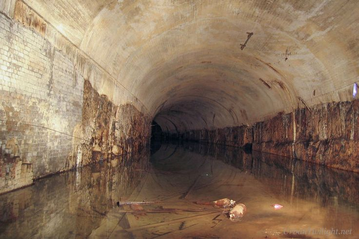 Tunnels - Lake St James at the north end of the abandoned St James railway tunnels