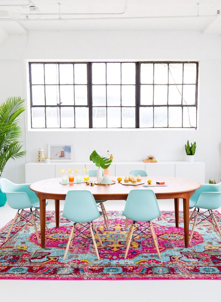 a joyful and modern dining room for summer - Colorful Modern Dining Room