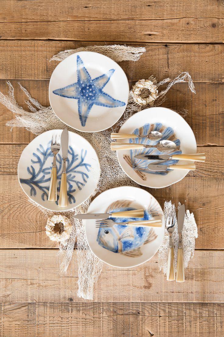 sealife plates & 113 best Dinnerware images on Pinterest | Dish sets Dinnerware sets ...