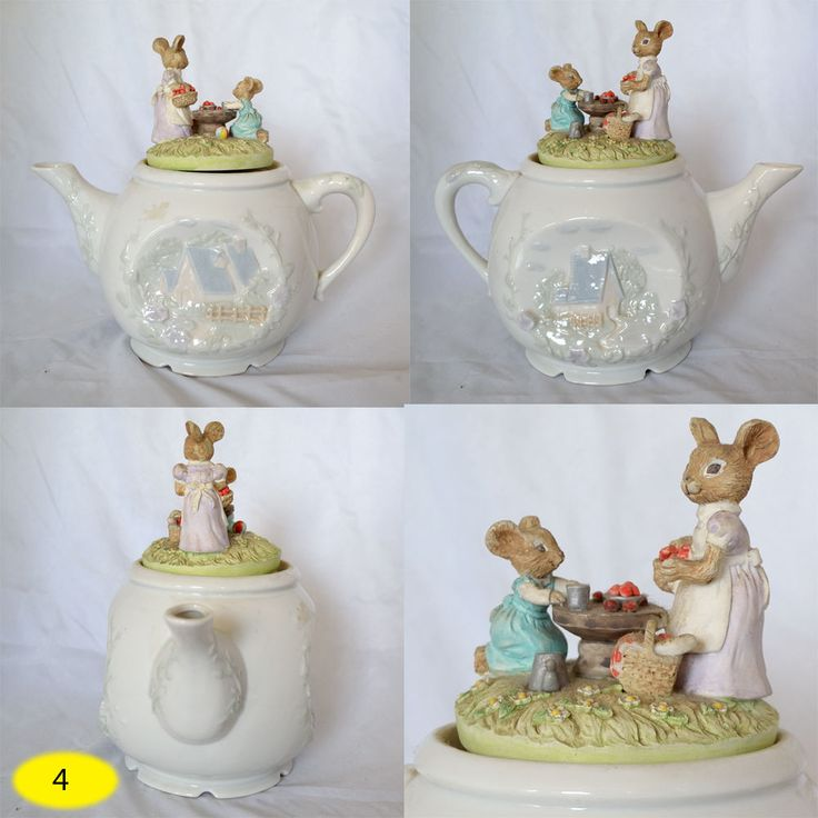 VINTAGE Musical Teapot Plays Tea for Two  #4