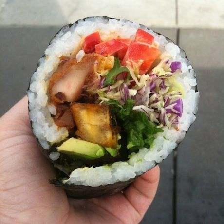Sushiritto = sushi burrito. Globalism at its finest. #foodporn