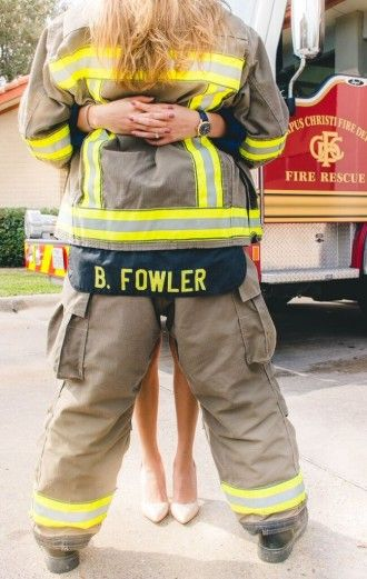 Long awaited proposal with firefighter engagement shoot