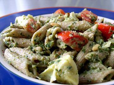 Artichoke Pesto Pasta Salad: Plants Strong Recipes, Gf Noodles, Pesto Pasta Salad Recipes, Vegans Recipes, Plants Based, Pasta Salad Pesto, Artichokes Pasta Salad, Cathy Recipes, Artichokes Pesto Pasta
