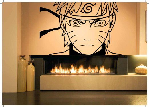 21 best naruto bedroom for ash images on pinterest anime for Mural naruto