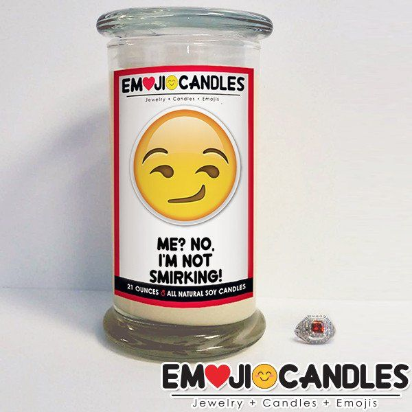 Me? No I'm Not Smirking! - Emoji Candles. Add a little fun & personal touch to your gift.. with an Emoji Candle! Yes, the Emojis everyone loves now has a candle that will make everyone smile!