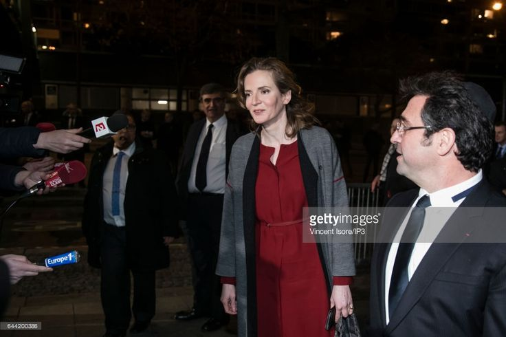 Member of Les Republicains right wing Party Nathalie Kosciusko Morizet (C) attends the traditional dinner of the Crif, the representative council of the Jewish institutions of France in the Pullman Hotel at Montparnasse on February 22, 2017 in Paris, France. Hundreds guests including politicians have been invited to the Crif dinner but three candidates for the 2017 French Presidential Election Jean Luc Melenchon, Yannick Jadot and Marine Le Pen were not invited.