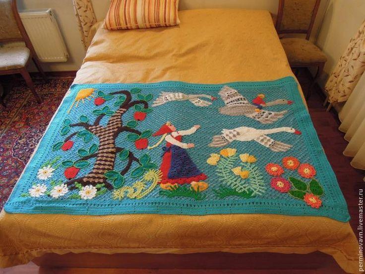 Вяжем детское покрывало «Гуси-лебеди» - Ярмарка Мастеров - ручная работа, handmade